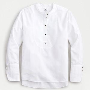 Thomas mason j crew white collarless tuxedo shirt